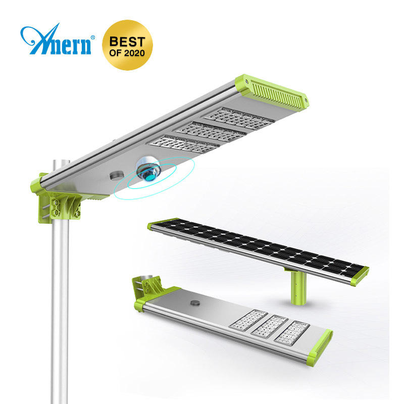 High power all in one integrated solar led street light, 20W 30W 50W Integrated solar street