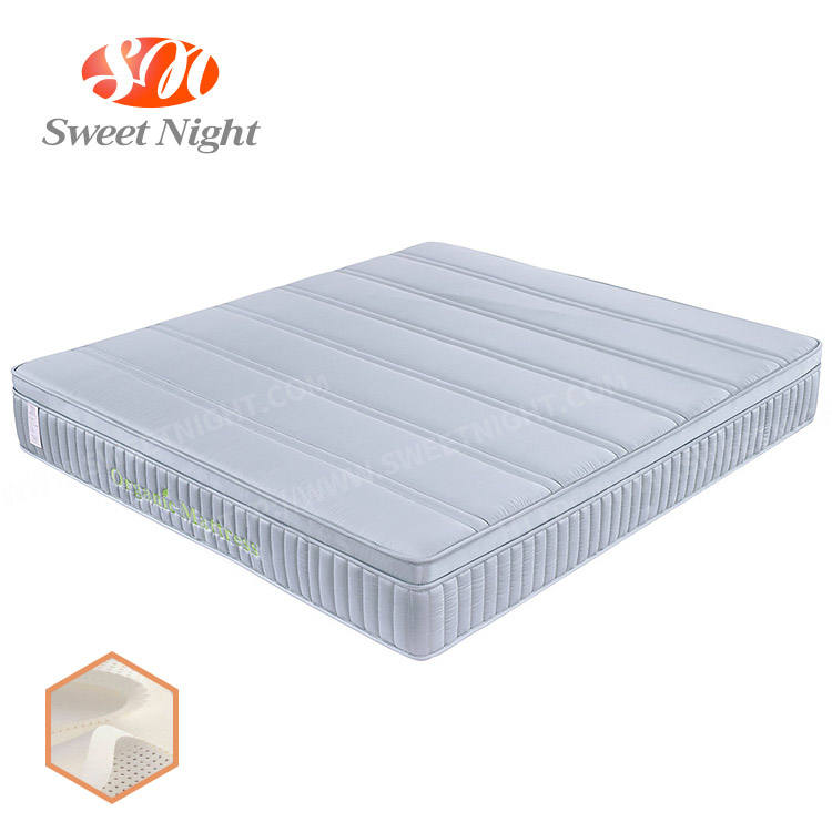 vacuum packed single spring mattress pocket latex memory foam mattress in a box king size