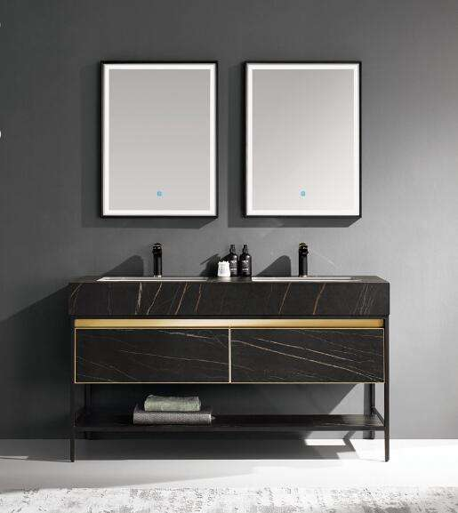 High Quality Design Double Vanity Sink Bathroom Floor Cabinet