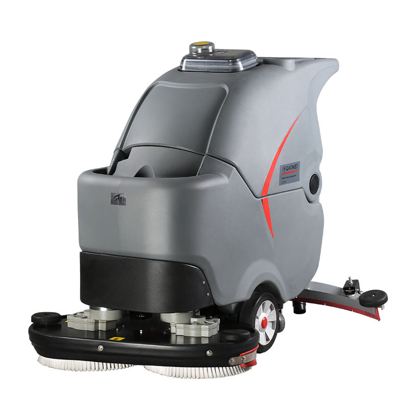 Automatic industry floor cleaning machine GM70BT , double brush concrete gym floor washing equipment