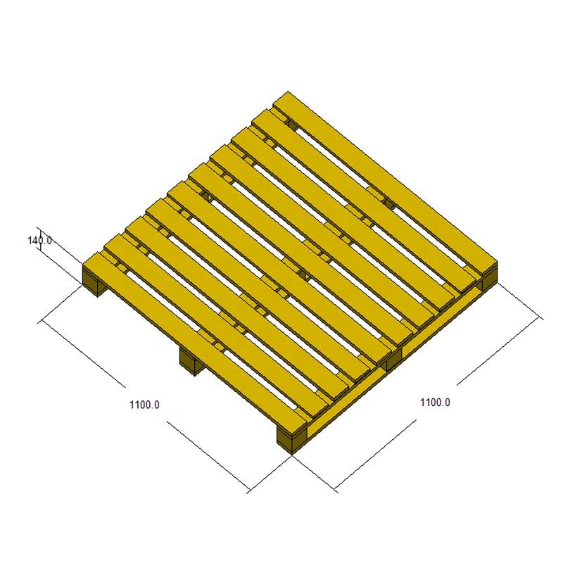 1100*1100mm 4-way entry single face wood pallet