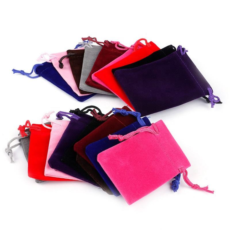 Multi Colors Velvet Earring Bag Pouch Charming Jewelry Packaging Bags Wedding Decoration Gift Bag