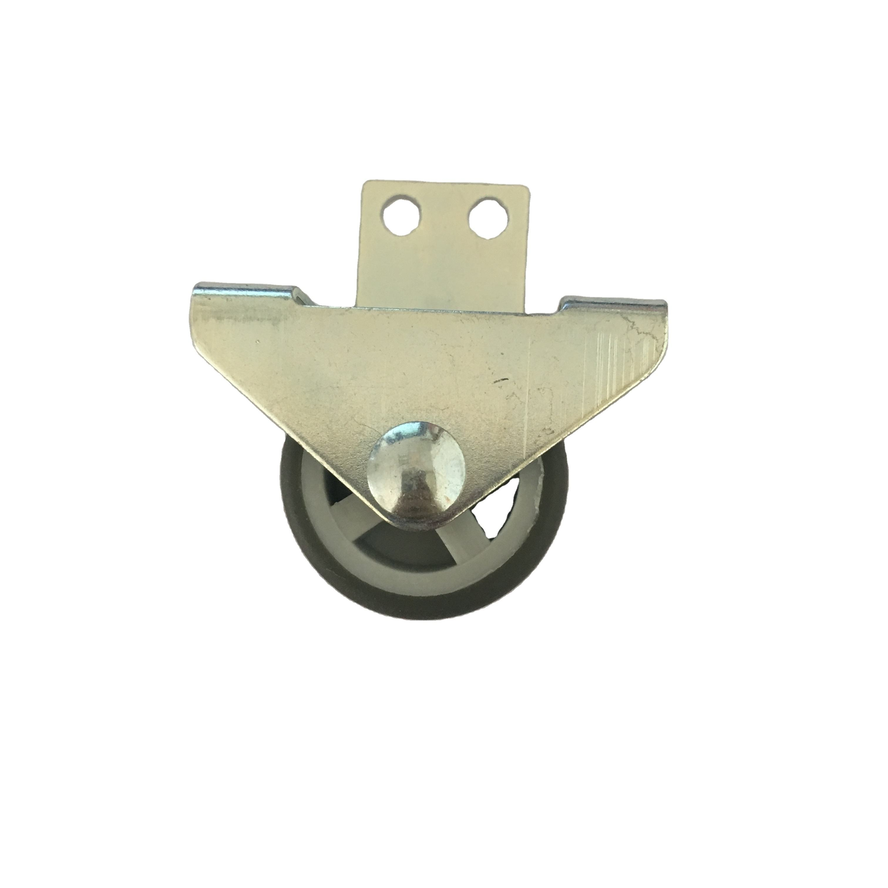 1 Inch and 1.5 inch 2 inch Fix Small Single soft TPR tread Caster Wheel side mounted caster