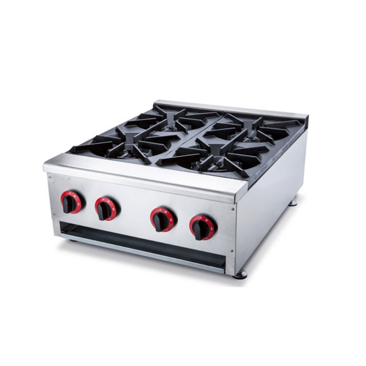 Hotel Restaurant Heavy Duty Commercial Cooking Equipment 4 Burner Gas Cooker Stove