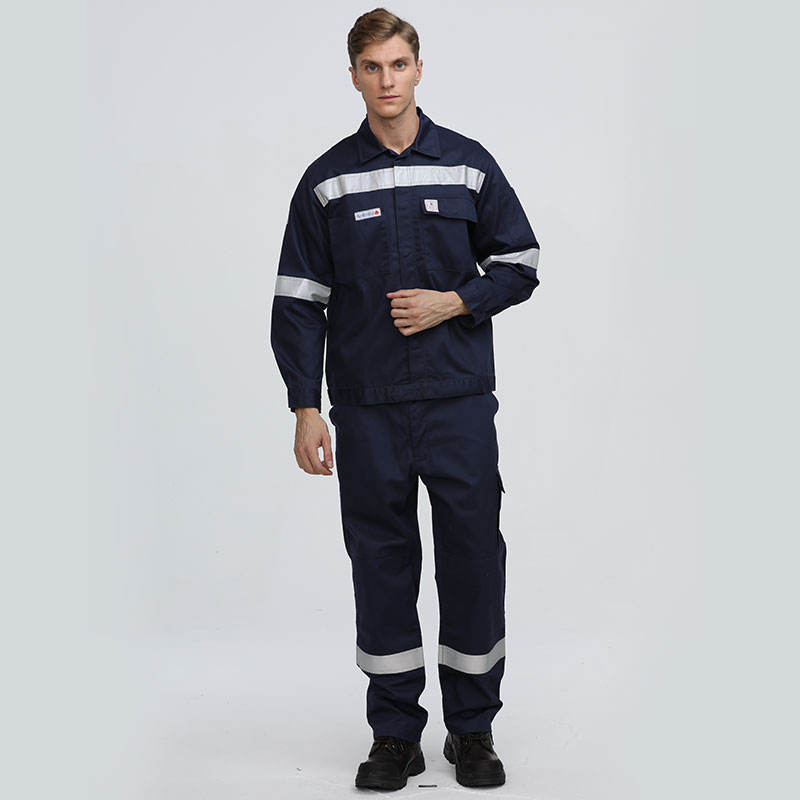 China Supplier Fr Cotton Industrial Boiler Suit With Reflective Tapes