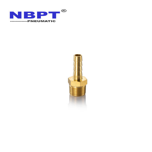 Male thread brass hose barb pneumatic fitting