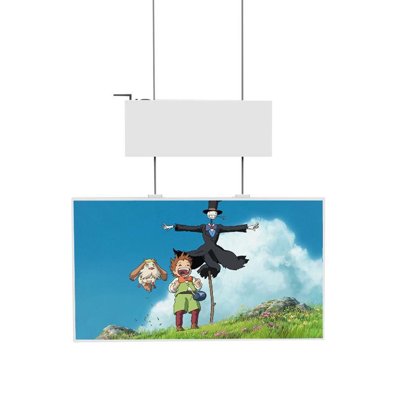 Buon prezzo 49 ''ad alta luminosità dell'interno double sided finestra del negozio di pubblicità digitale a cristalli liquidi di trasporto display monitor