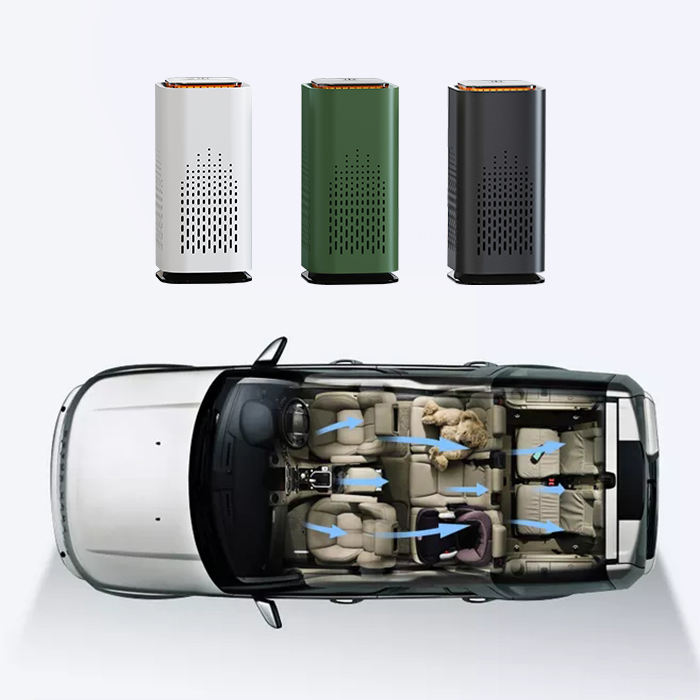 Smart Mini Anion Ionizer Ion Personal Portable Air Purifier for Car with Hepa Filter