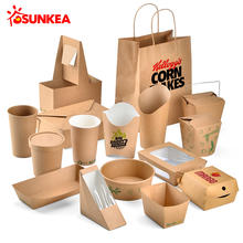 Disposable custom design eco friendly food packaging