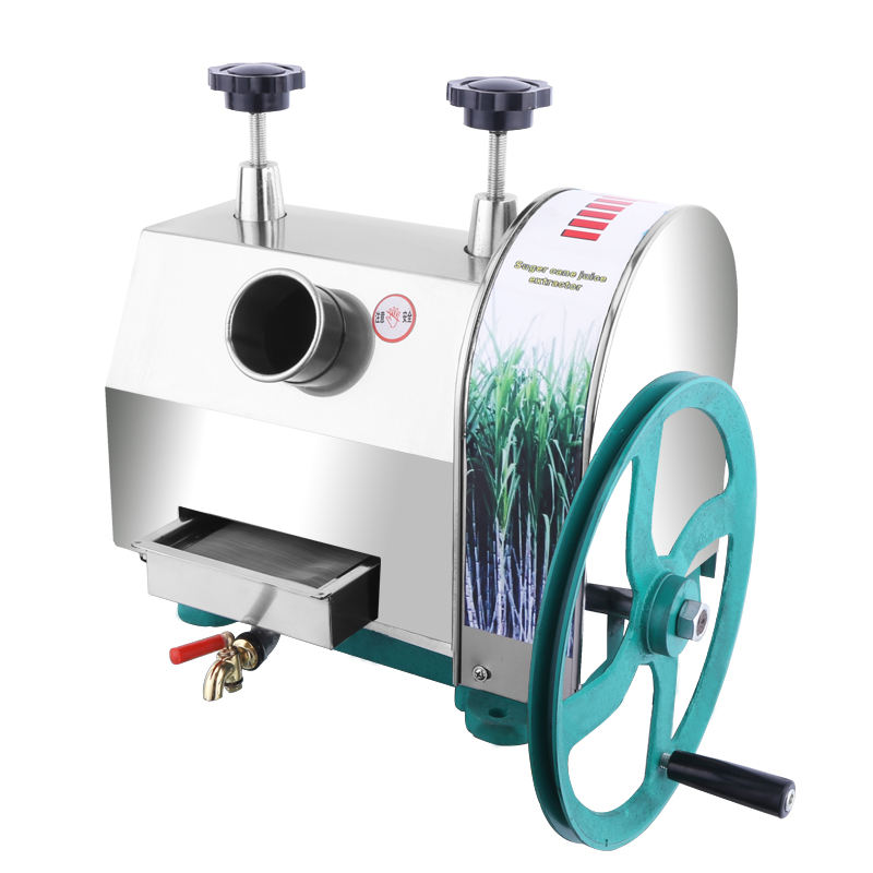 Home Use Industrial Machinery Hand Operated Manual Mobile Sugar Cane Juice Extracting Sugarcane Squeezing Juicer Mill Machine