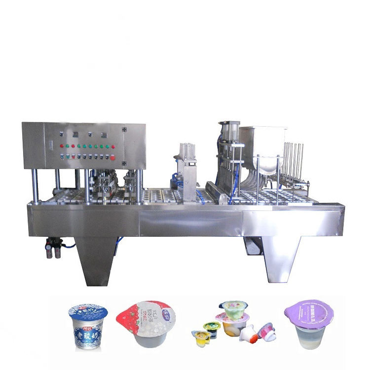 3600-4000cups/h Automatic Orange Drink Cup Filling and Sealing Machine