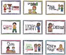 Preschool and Elementary School Classroom Rule chart Behavior Etiquette Education pvc class poster
