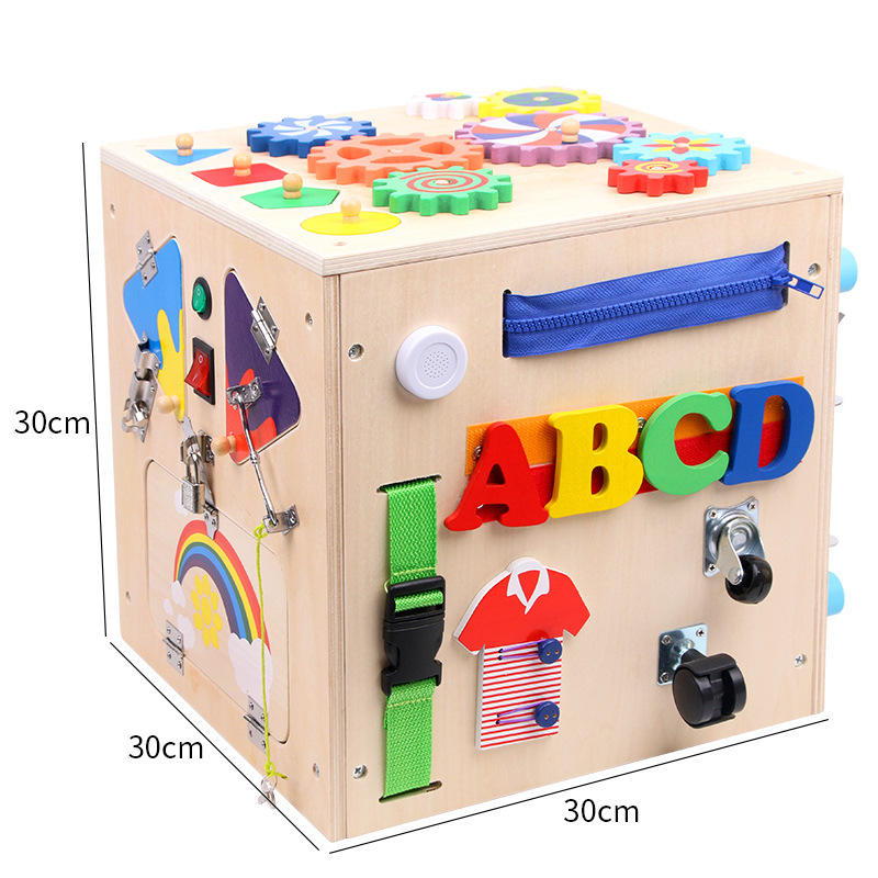 Baby activity board for kids 1-3 years Busy board for quiet play
