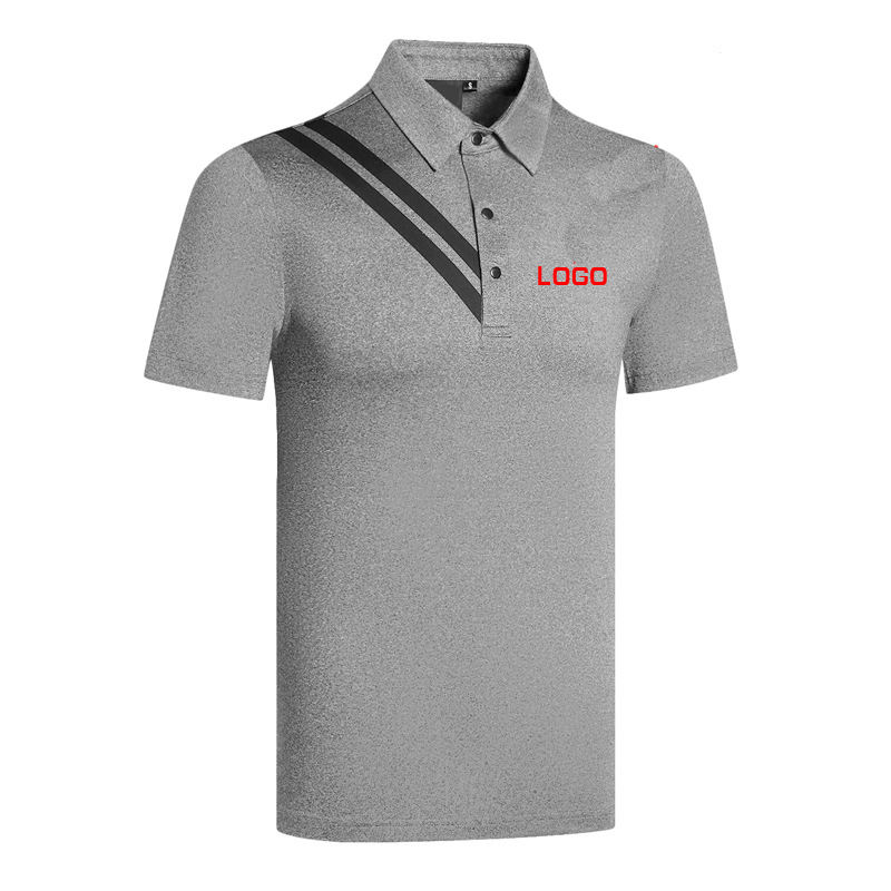 Custom LOGO Fashion polyester mix cotton Short Golf Sleeve Color Combination Polo T shirts Design For Man