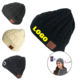 Deliwear Custom Toque Screen Touch Winter Glove Wireless Beanie Hat with Bluetooth Headphone Set