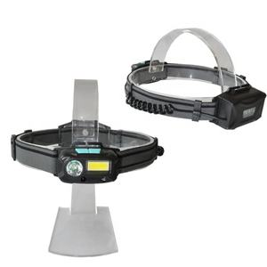 3W multifunctional sensor head light lithium battery cree rechargeable LED COB headlamp