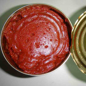 canned tomato paste in 850g tin double concentrated brix 28-30 natural red color