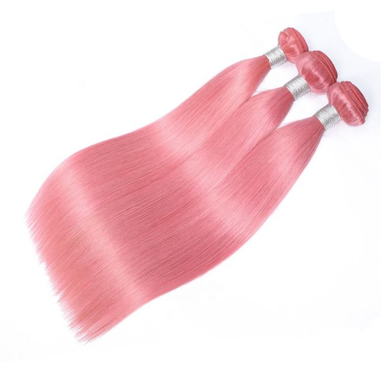 9A ombre hair extension no shedding pink virgin human braiding hair bundles wholesale price