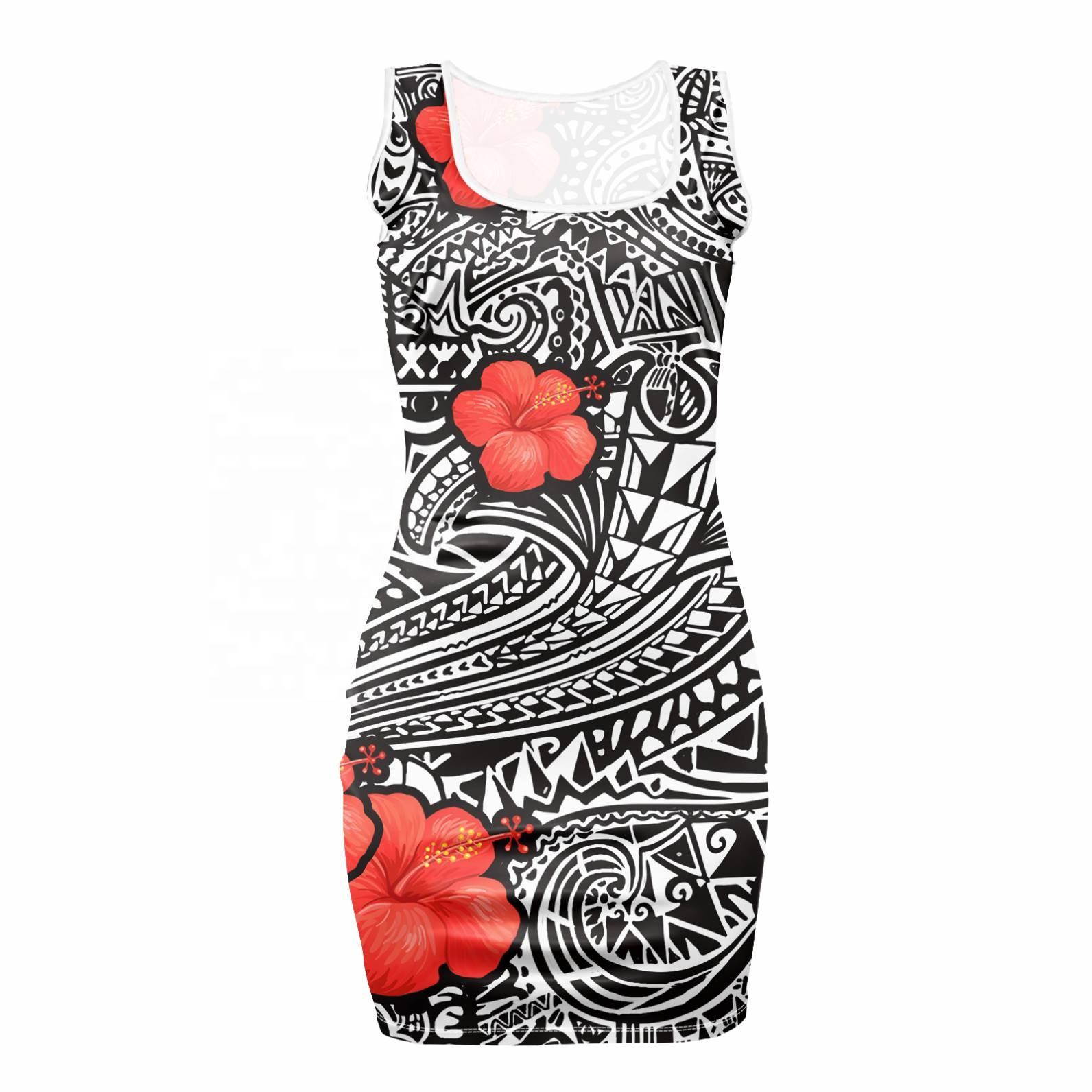 New Fashion Women Party Dress African Kente Wax Pattern Printing Girls Casual Beach Clothing Trendy Women Femme Vestidos Mujer