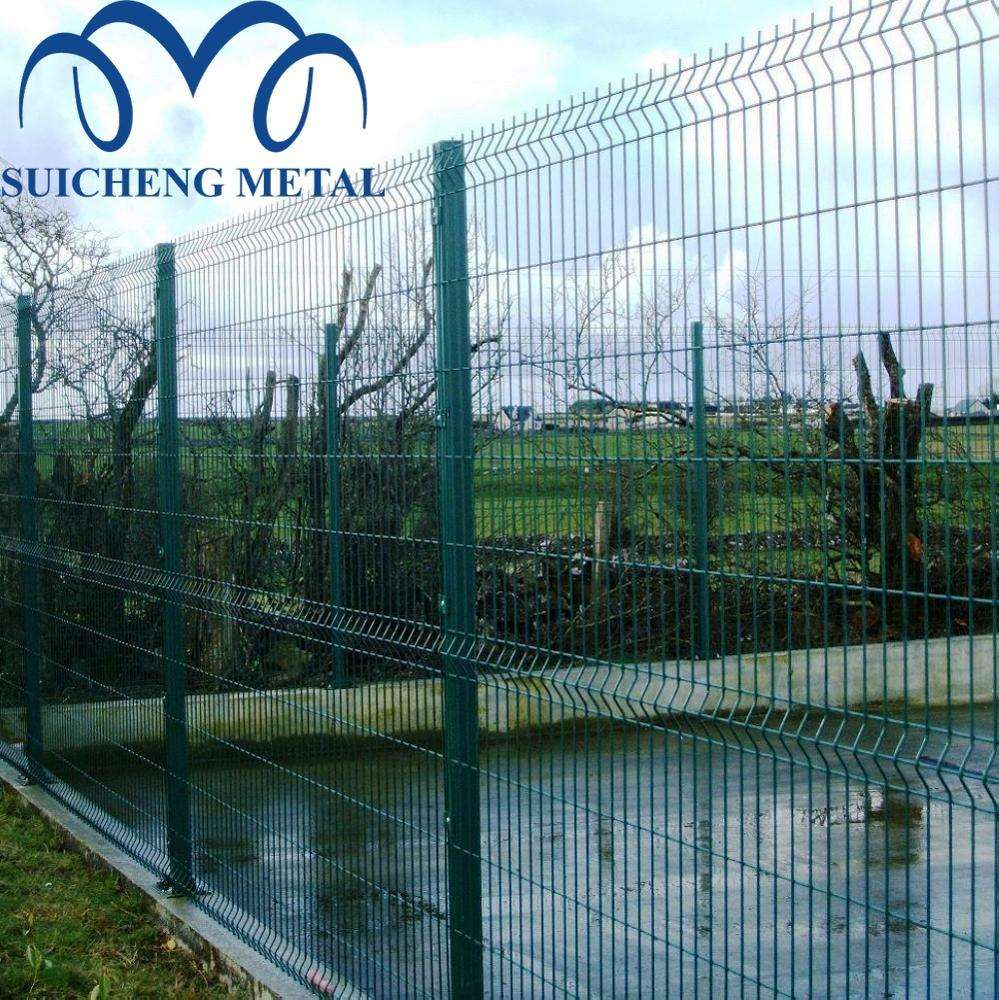 galvanized steel mesh fence /metal fences panels/ v mesh post and fence