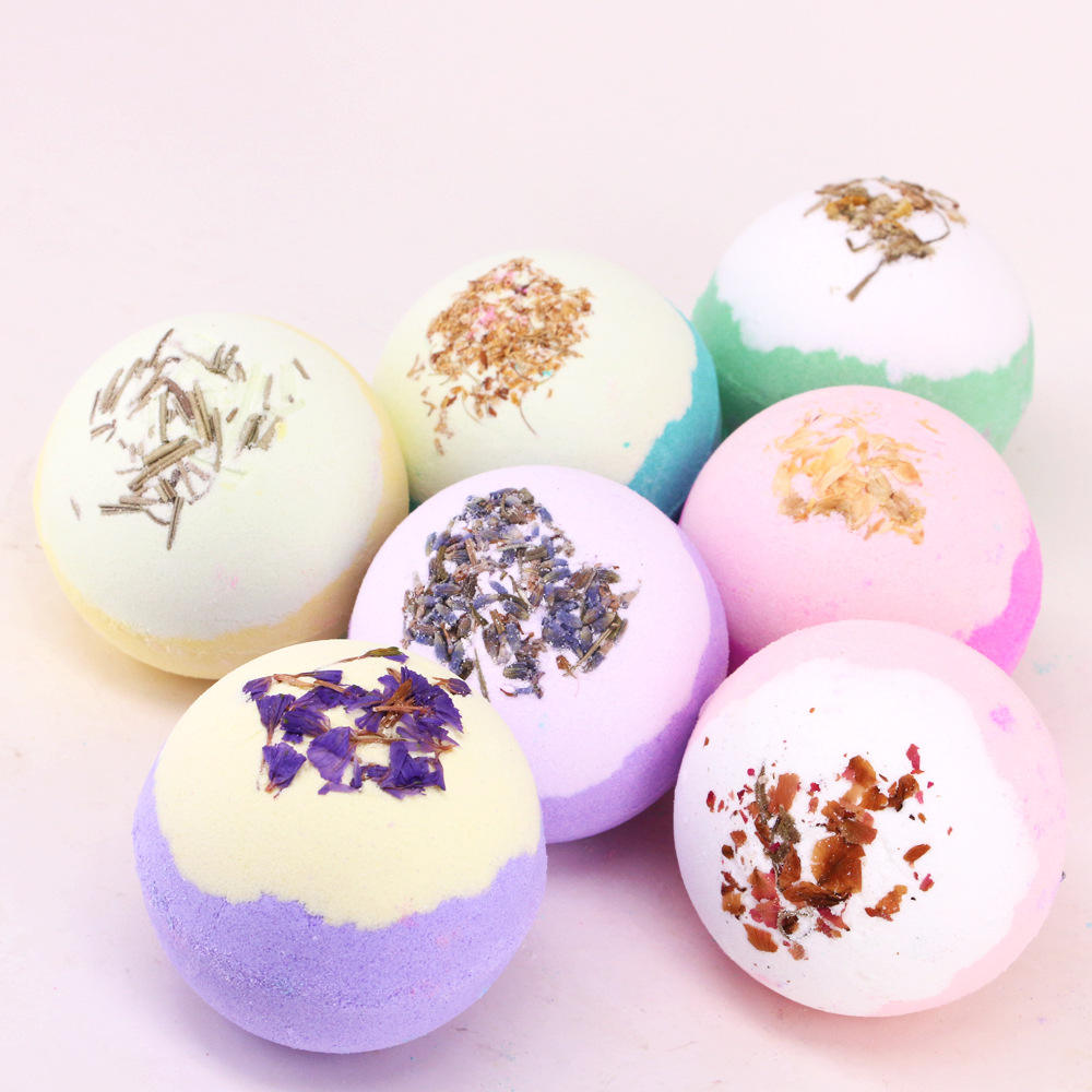 Natural Fragrance Bath Bombs Bubble Skincare Skin Rejuvenation Essential Oil Bubble Fizzy Bathbombs Handmade Soap Bombe De Bain