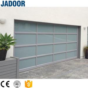 CE Automatic Customized Size Glass Panel Garage Door