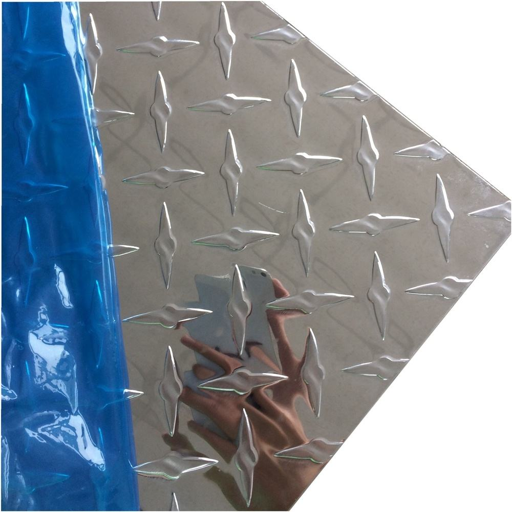 High Anti-rust Quality 4x8 Anit-slip Diamond Ribbed Embossed Aluminum Sheet / Plate