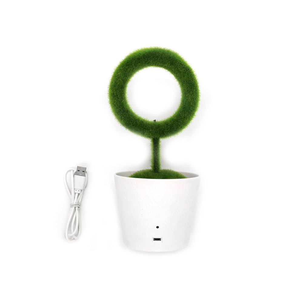 AMBOHR hot home office Ionic Desktop Green Plant Air Purifier with USB