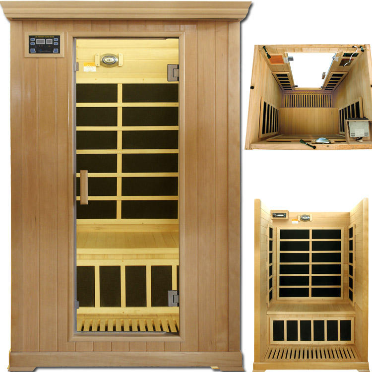 Traditional Sauna Heater Adjust Temperature Indoor 2 Person Salon Steam Tubes Aroma Steam Sauna Salon Furniture