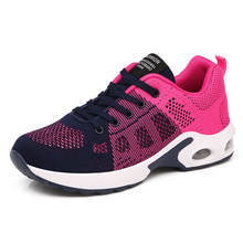 Women Knit Fashion Breathable Lightweight Athletic Sneakers Sports Running Shoes