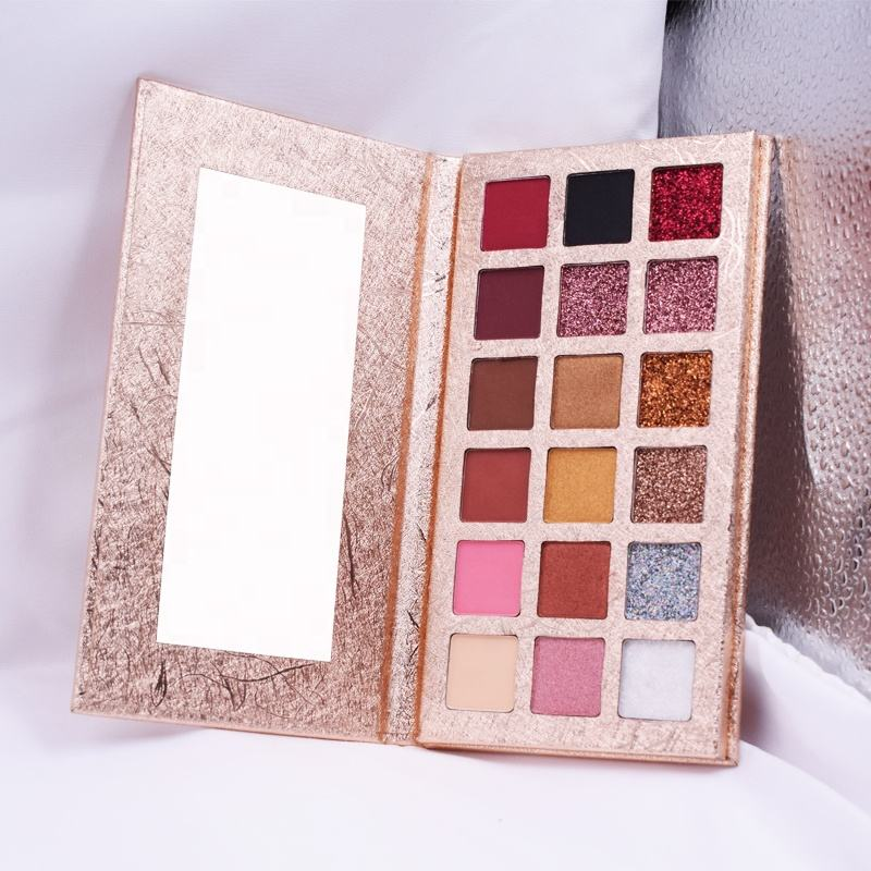 Wholesale Makeup 18 Colors Eyeshadow Palette OEM Long Lasting Pressed Matte Shimmer Glitter Eyeshadow