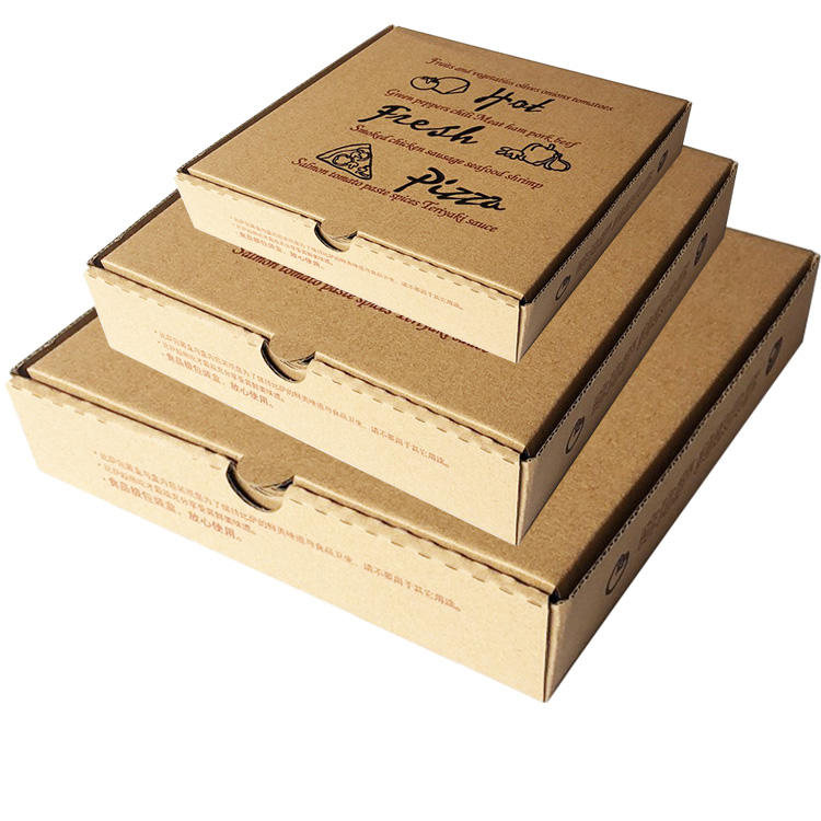 Wholesale custom printing big factory printing food paper pizza box carton packaging box