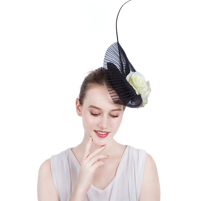 Spring Fashion Millinery Design Fascinator Flower Wedding Hats Women Fascinator