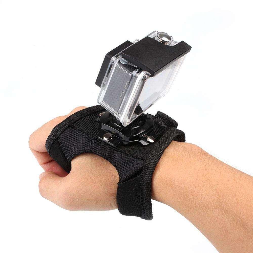 Kaliou Factory direct Wholesale Wrist Belt Holder Hand Palm Strap with 360 Degree Rotation Mount for Go Pro Hero5/4 / 3+ / 3 / 2