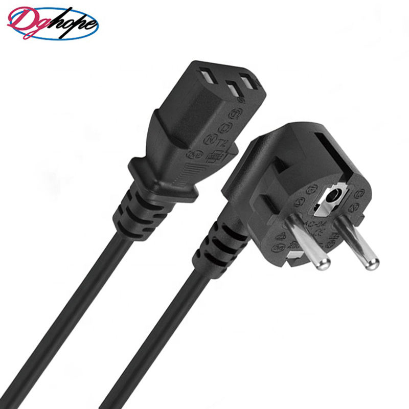 Wholesale 3 pin with Plug Cord VDE certification European AC Power Cord for Laptops Computers Monitor