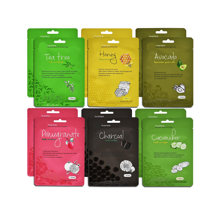 Private label Korea Cucumber Facial Face Mask sheet Hydrating Lifting Moisturizing Oil Control Fruit Facial sheet Mask