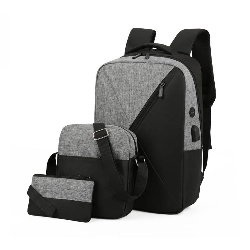 New Stylish Durable Boys Leisure Travel Laptop USB Charging School Bag Set Of 3 Set School Backpack Kids For Middle School