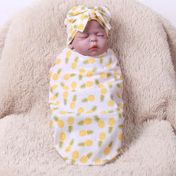 New Newborn Baby Bed Sheet Star Floral Printed Bedding Set f
