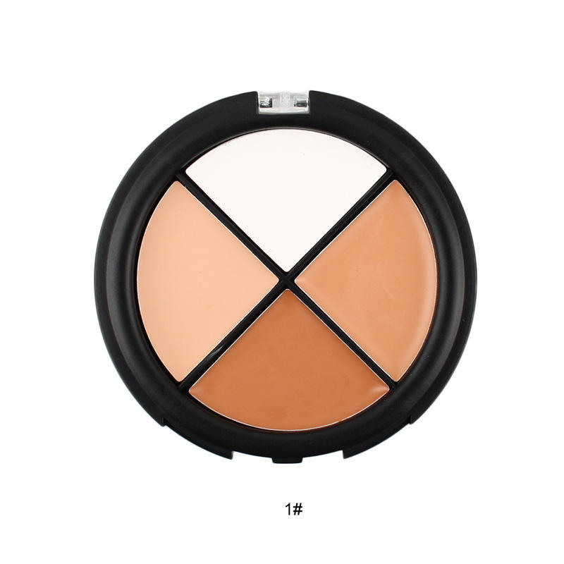 China Factory Four-Color Pro Concealer Palette Lasting Waterproof Make Up Concealer Private Label