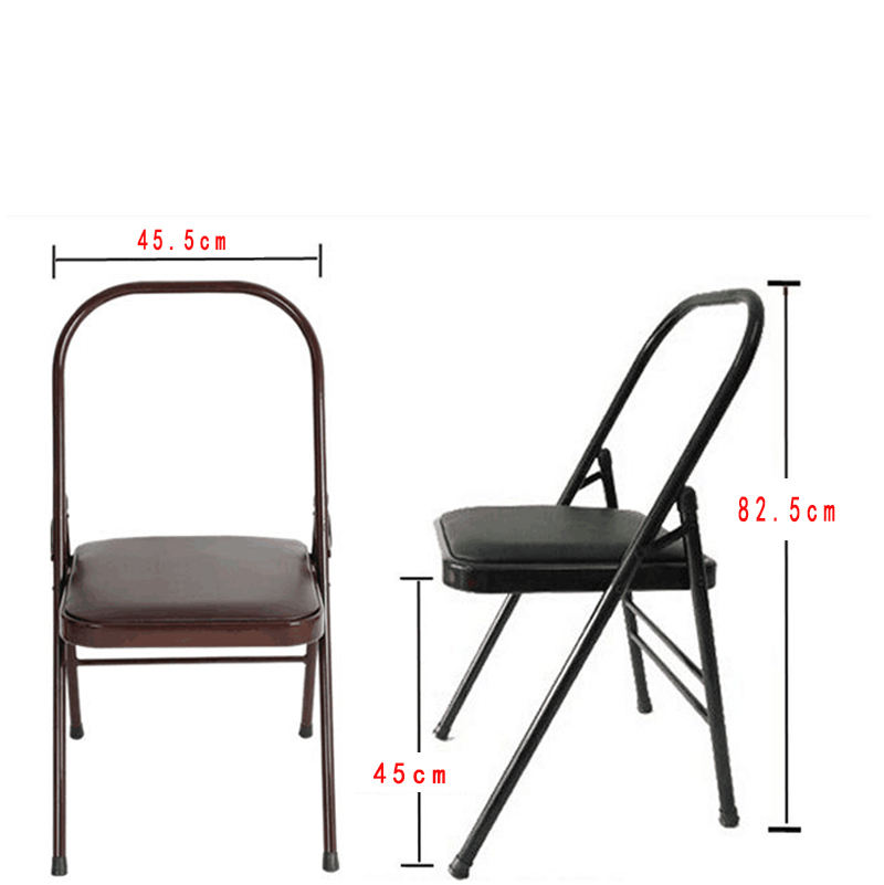 Stainless Steel PU wholesale all steel folding floor yoga chair