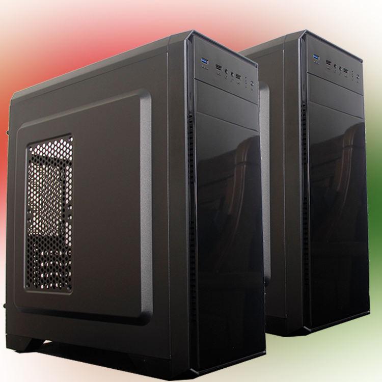 Cooler Master Plastic Business Gaming Cpu Cabinet Computer Case ATX Mid Tower Desktop Poem High Quality at with Power Supply Fan