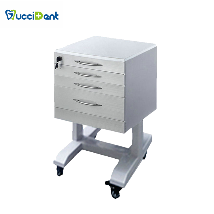 Anti-chemical stainless steel frame 3 suitable drawers dental assisting cabinet