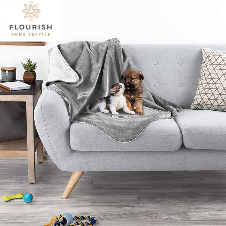 Flourish Waterproof Pet Blankets Soft Plush Throw Protects Couch Chairs Car Bed Machine Washable dog blanket pet blanket
