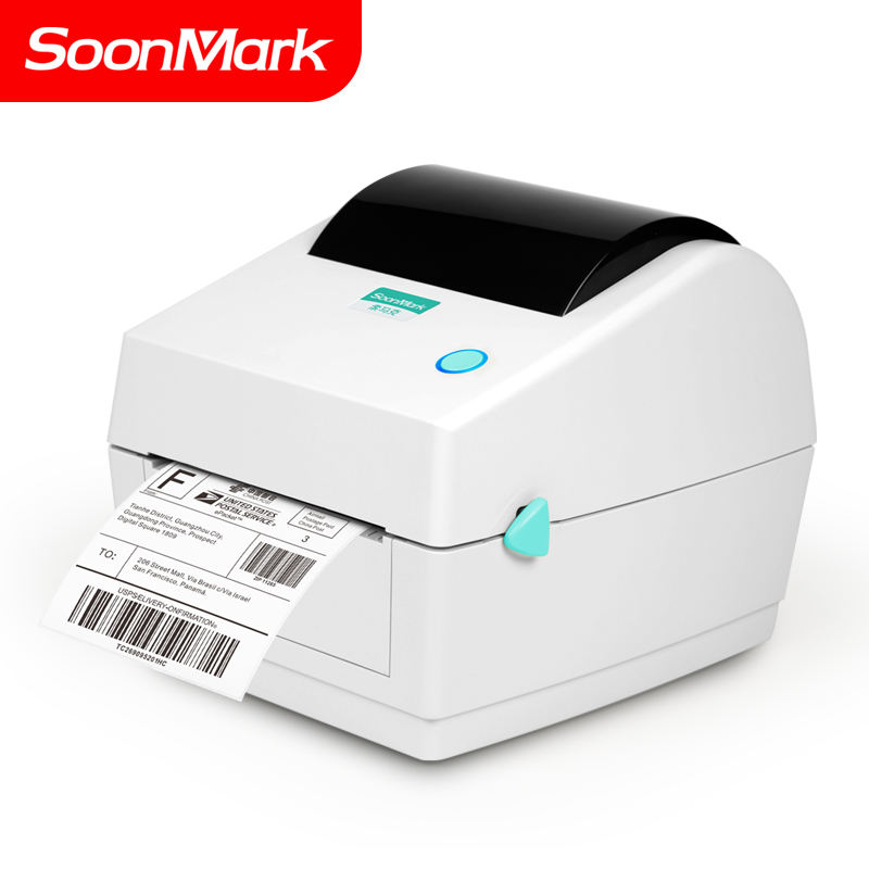 Soonmark high speed 4inch USB desktop direct thermal barcode sticker shipping label printer 4x6 price advantage