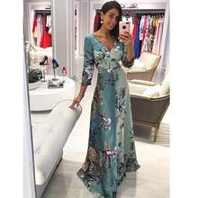 Clothes women elegant casual woman clothes dresses women maxi long bohemian floral print dress