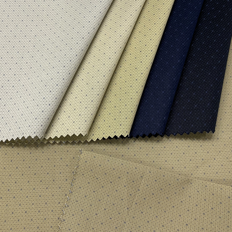Fashion Shaoxing Textile Dot Fabric Poly Cotton Stretch Fabric