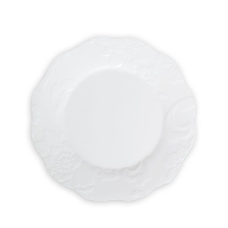 New design wholesale flower unique shape dinner melamine plate household plastic ware for sale