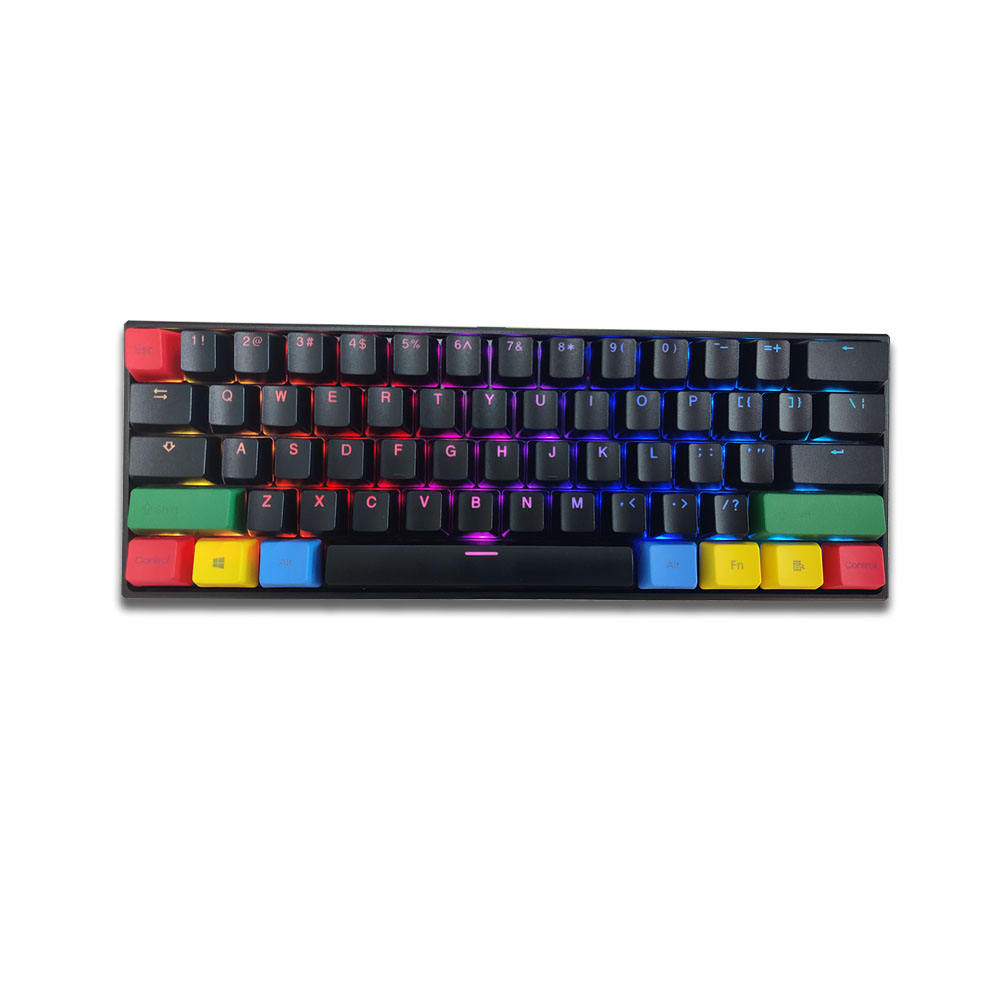 Compact design customize 61-Keys Wired Lighting Switch Gaming Mechanical Keyboard wireless