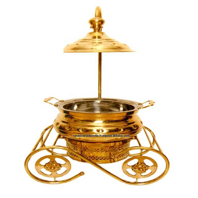 Top Quality Handmade Brass Catering Serving Dish.