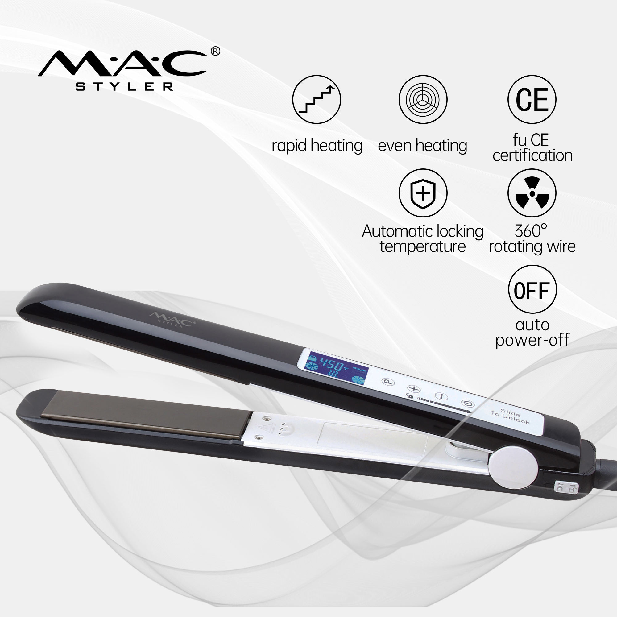 Pro LCD Electric Beard Hair Straightener Ionic Comb Fast Heating Hair Straightener Anti Static Ceramic Straightening Brush Comb